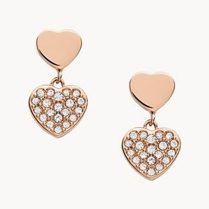 🌼 NWT Fossil rose gold-tone earrings
